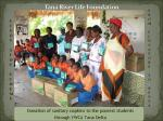Donating sanitary napkins to the poorest students in thearea