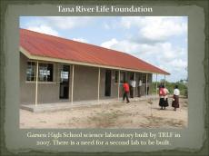 Science Lab at Garsen High School built by Tana River Life Foundation