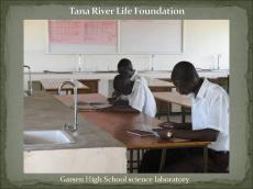 Garsen High School science lab
