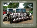 The Tana River Life Foundation bus provides transportation to and fromschool
