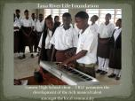 Garsen High School choir with equipment donated through the Tana River Life Foundation