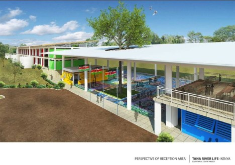 Artist's Impression of the Reception Area of the Education Centre Project