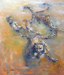 Catch Me If You Can by Claire Wee. Oil. 60cm x 70cm Unframed. $4000