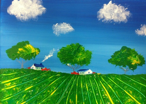 25*35cm Oil & Acrylic by Natalie Pang - age 13 $280