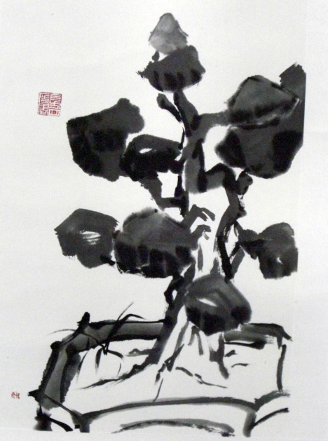 Silhouette along the Corridor Bonsai by Quek Kiat Sing