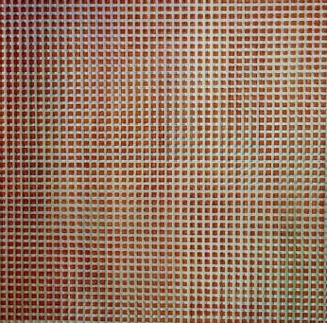 Small Red Squares and Small Green Squares by Om Mee Ai ( diptych )