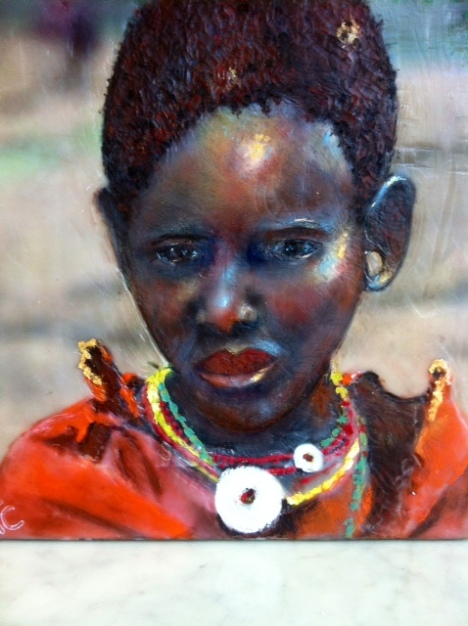 The Kenyan Girl by Kim Chesney