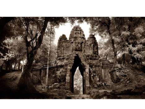 The West Gate Angkor Thom Angkor Cambodia by John McDermott