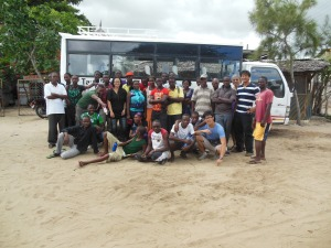 Getting around using the Tana River Life Foundation bus