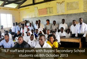 TRLF staff with students of Buyani Secondary School