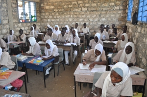 Students in class at Buyani Secondary School