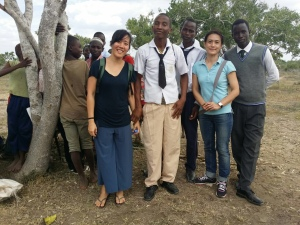 Lyanna and Sarah with students at Ndera