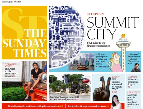 Image of Cover of Sunday Times 10 June 2018